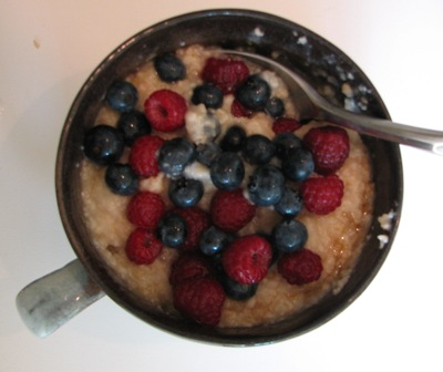 Organic oatmeal with nuts and berries