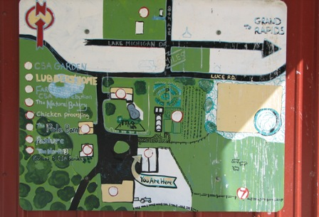 Map at Lubbers Farm