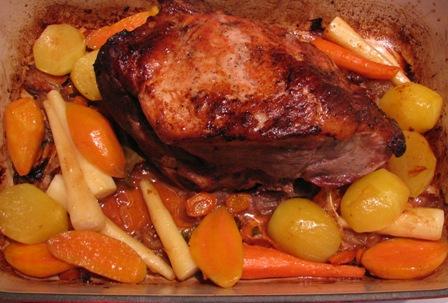 Fresh Ham Roast with Root Vegetables