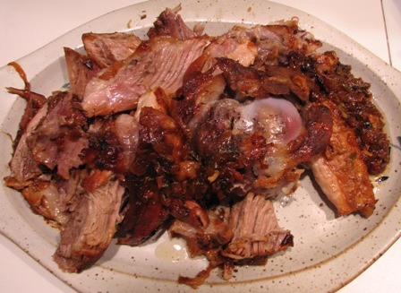 Pork shoulder from Southern Living recipe