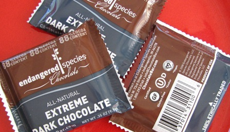 Endangered Species Fair Trade dark organic chocolate