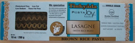 Pasta Joy Brown Rice Lasagna Noodles