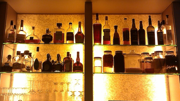 The bar at Grove restaurant