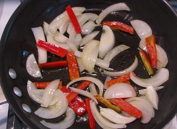 Sauteed onion and pepper