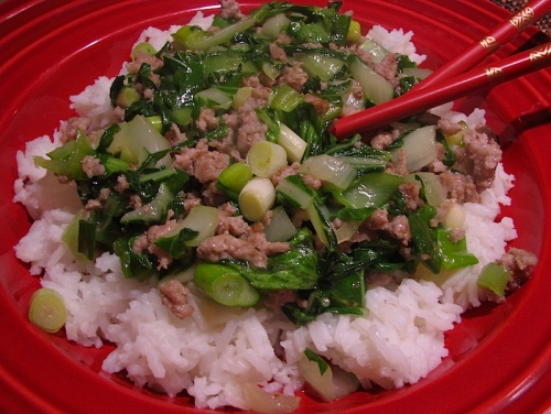 Pork and Bok Choy Stir-Fry recipe