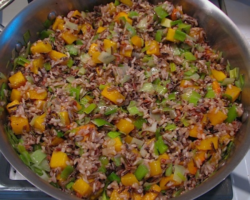Wild Rice with Butternut Squash and Leeks recipe