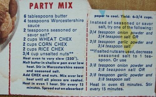 Chex Party Mix recipe