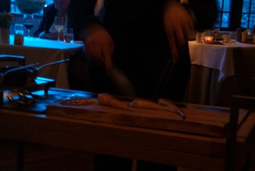 Parsnip Steak cut tableside
