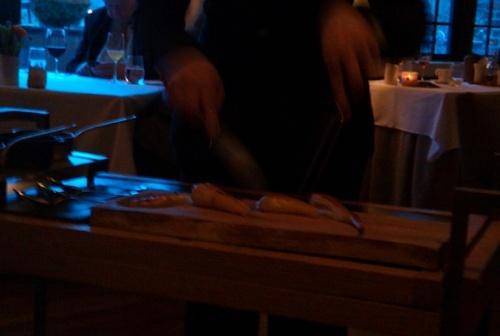 Parsnip Steak cut tableside