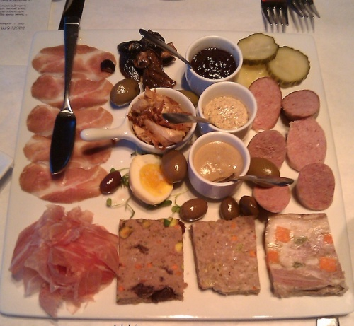 House-made charcuterie at Five Bistro