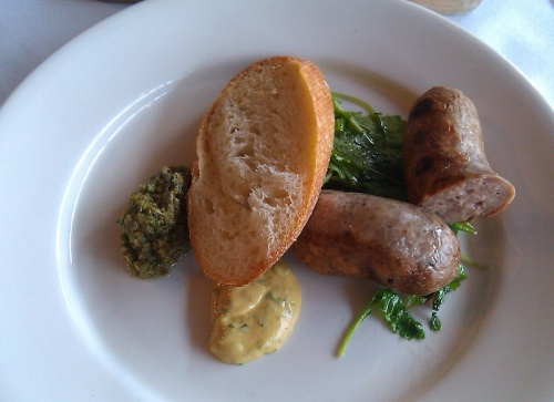 Home-made Beef and Pork Sausage, Poteger Restaurant, Denver, Colorado