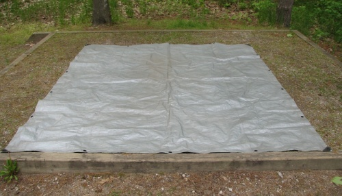 Camping step two: Put down tarp