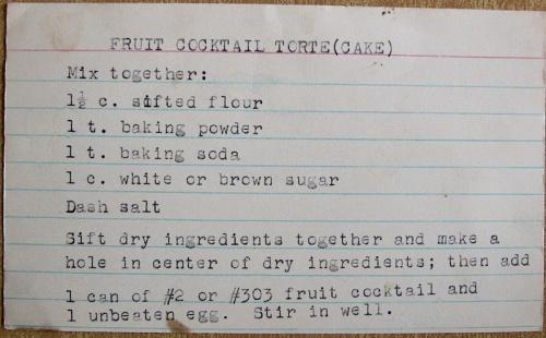 Fruit Cocktail Torte recipe