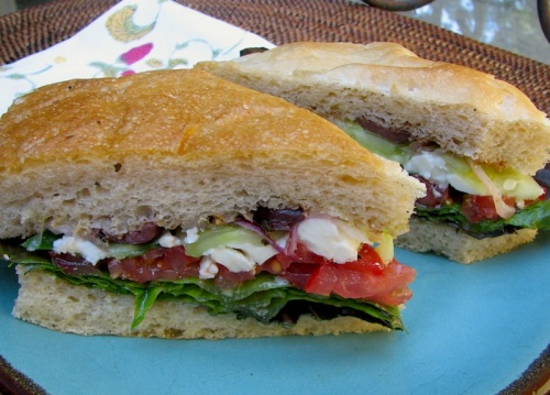 Tuscan Feta Salad Sandwich