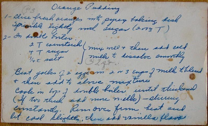 Orange Pudding recipe