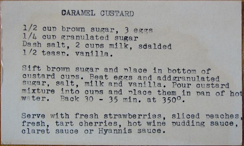 Caramel Custard recipe