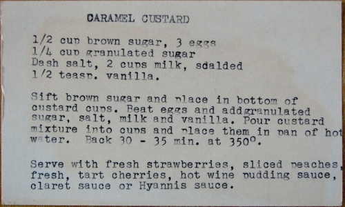 Caramel Custard recipe